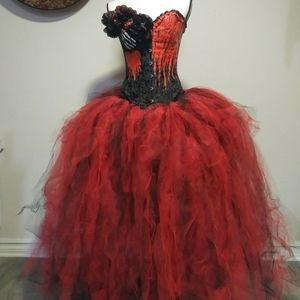 Ladies Day of the dead corset couture